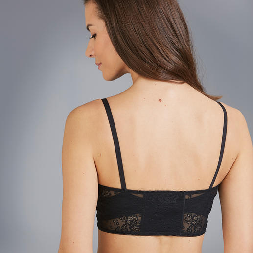 Anita Bra with lace Insert Your safeguard against an all too deep décolletage and a comfortable alternative to an often annoying vest.