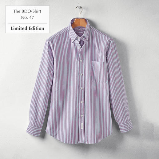 The BDO-Shirt No. 47, Striped Meet a good old friend. And forget that shirts always need ironing.