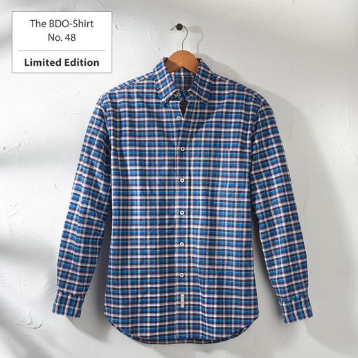 The BDO-Shirt No.48, Checkered Meet a good old friend. And forget that shirtsalways need ironing.