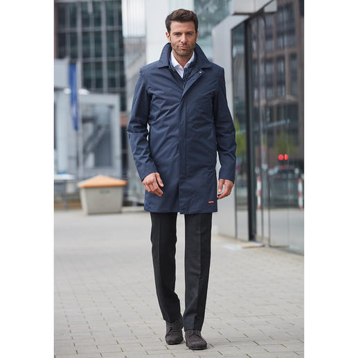 Swims Functional Long Jacket Weather resistant, breathable functional jackets suitable for year-round wear are rarely this stylish.