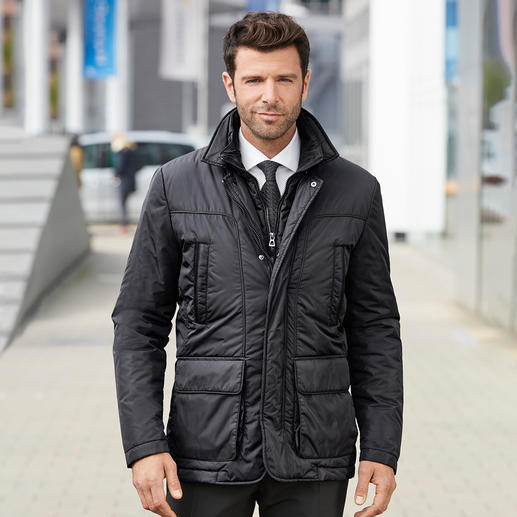 "Geox Functional Men's Jacket - The ""breathable"" functional jacket – with patented ventilation system by Geox. In Italian slimline design."