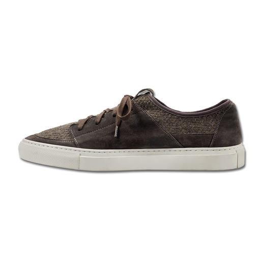 Andrea Zori Leather Knitted Sneakers As casual as a sneaker, as comfortable as a sock: The leather sneaker with knitted insert. By Andrea Zori.