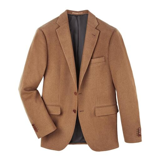 Exquisite and yet affordable: The pleasantly warm luxury of a real camel hair jacket. Exquisite and yet affordable: The pleasantly warm luxury of a real camel hair jacket. Chic cloth from Italy.