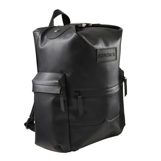 Hunter Men's Rucksack Accessory favourite of the festival scene: Hunter's waterproof leather rucksack.