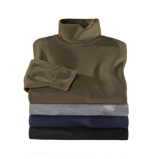 John Smedley Polo Neck Pullover - This pullover made from fine Merino wool by John Smedley weighs less than 10.6oz. Fits any briefcase.