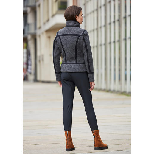 Goldbergh Couture Sports Jacket or Softshell Stirrup Trousers Sporty streetwear or stylish sportswear? Both! By Dutch fashion press favourite, Goldbergh.