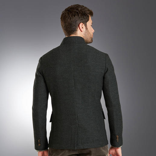 Luis Trenker Knitted Alpine Jacket Alpine style jacket 2.0: Soft Italian knit instead of rough milled wool. By Luis Trenker.