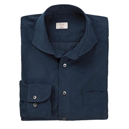 DU4 Fine Cord Shirt Cord at its finest: This leisure shirt is as stylish as a business shirt.  Tailored by Claude Dufour.