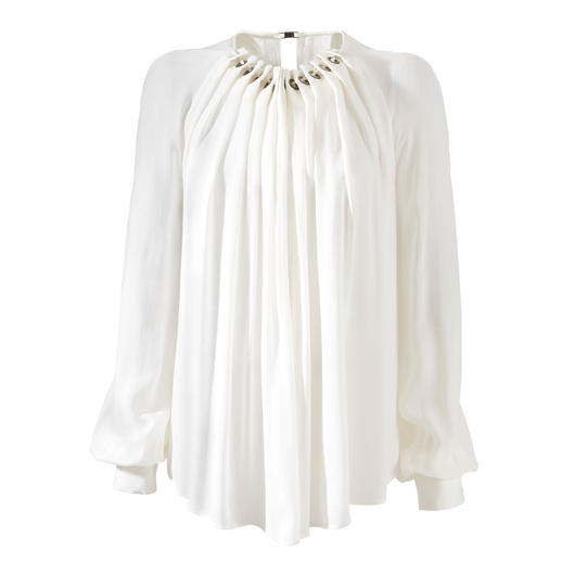 Plein Sud Jeanius Swing Blouse On-trend, generously flared and still flattering and slimline. By Plein Sud Jeanius.