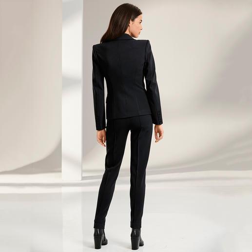 Plein Sud Jeanius Blazer, Trousers or Black Dress Feminine figure flattering cut and wonderfully comfortable. Design by Plein Sud Jeanius, France.