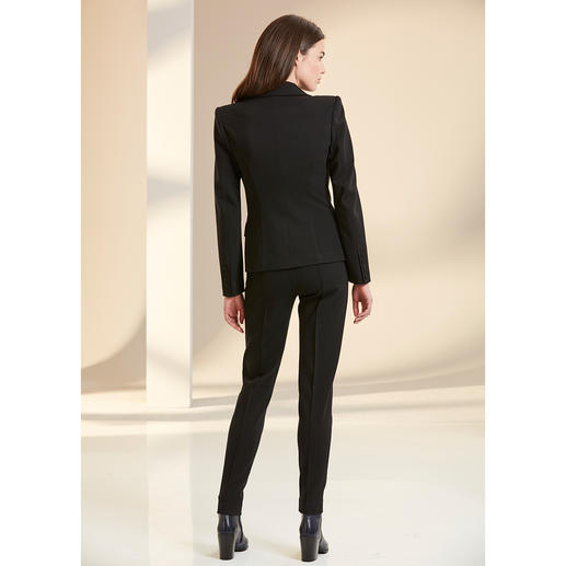 Plein Sud Jeanius Blazer, Trousers or Black Dress Feminine figure flattering cut and wonderfully comfortable. Design by Plein Sud Jeanius, France.