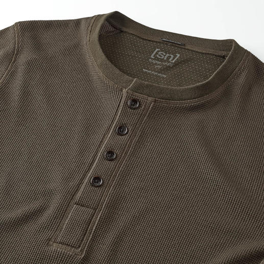 super.natural Henley Shirt Warmer, softer and more interesting than most: The Henley shirt by super.natural.