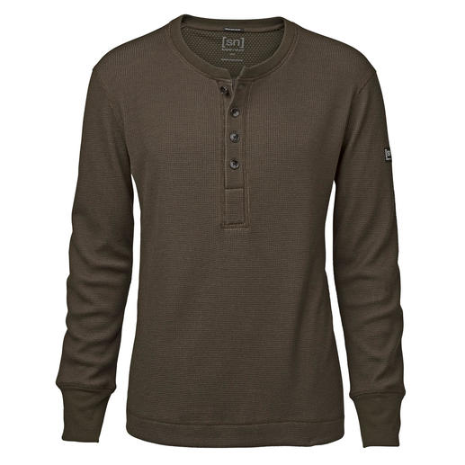 super.natural Henley Shirt - Warmer, softer and more interesting than most: The Henley shirt by super.natural.