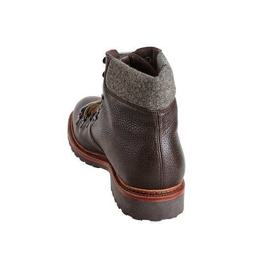 Cordwainer Elk Leather Hiking Boots Rare, butter-soft elk leather. Flexible, Goodyear welted. By shoe specialist Cordwainer.