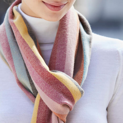 """Johnstons 265cm Striped Scarf It is hard to believe that it is """"just"""" merino wool. By Johnstons of Elgin, Scotland."""