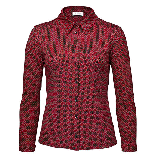 KD-Klaus Dilkrath Jersey Blouse, red/black As elegant as a blouse. As comfortable as a shirt. From KD-Klaus Dilkrath.