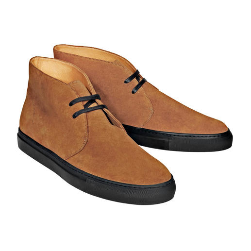 Bernacchini Calf Suede Chukka Boots - The finest calf suede – weather and winter proof thanks to the ScotchgardTM finish. Made in Italy, Bernacchini.