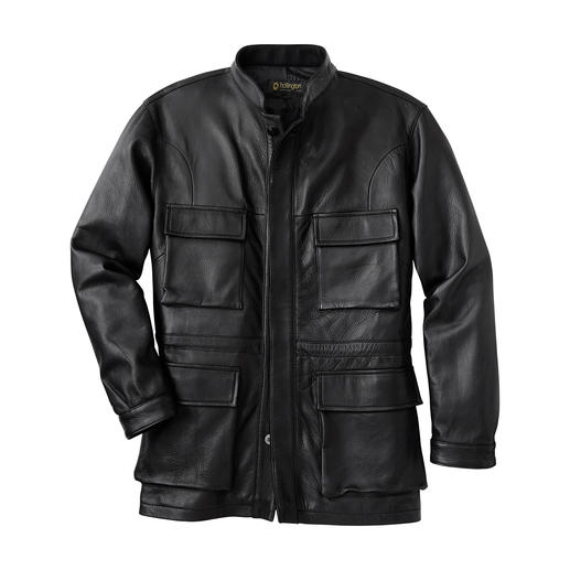 Hollington Kidskin Leather Field Jacket Unmistakably Hollington: The smart field jacket made of soft kidskin leather.