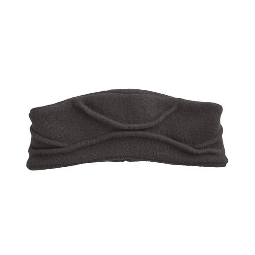 Céline Robert Couture Headband In currently fashionable, elegant shape. Permanently fixed ruffle. Made in France. By Céline Robert.