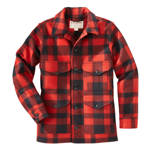 Filson Lumberjack Wool Jacket Naturally warm. Water repellent. Indestructible. 100% virgin wool. By C.C. Filson.