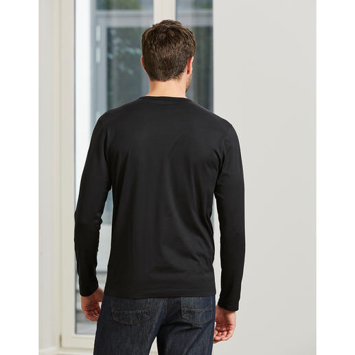 Long sleeves, Crew-Neck Shirt, Black