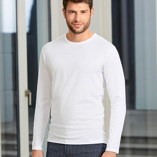 Long sleeves, Crew-Neck Shirt, White