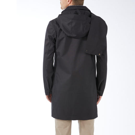 Norwegian Rain Men's Raincoat Waterproof. Windproof. Breathable. Made of Japanese high-tech material with cloth look.