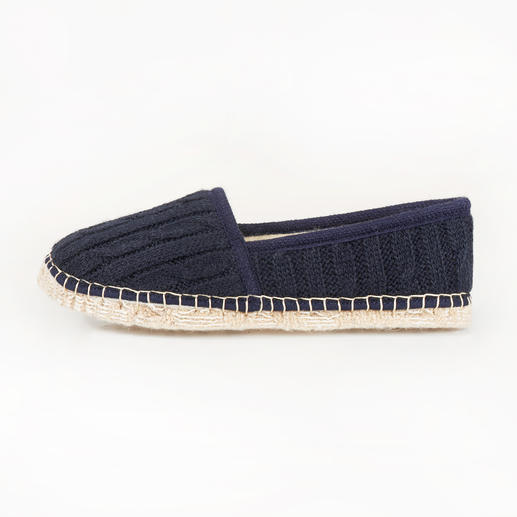 [espadrij] Cable Knit Slippers Espadrilles: Cult holiday shoes reinvented as chic slippers. By [espadrij].