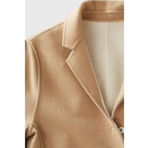 Strenesse Reversible Double Faced Coat Lighter, more elegant than most coats. Reversible double-faced coat made of wool and cashmere. By Strenesse.
