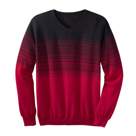 Graduated Colour Striped Pullover - With striking graduated colour: A unique and fashionable way to wear stripes.