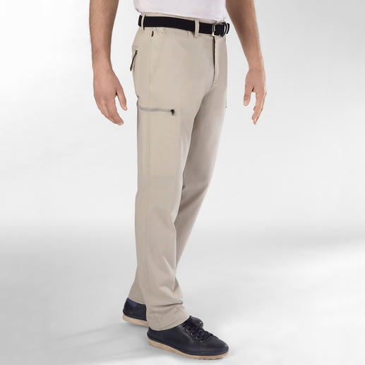 Aigle Functional Cargo Trousers Slim pockets. High cotton content. Invisible functionality. By Aigle, France.