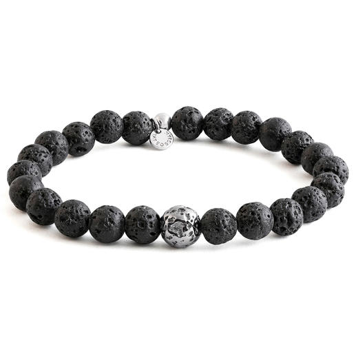 Tateossian Lava Bracelet - The bracelet made of genuine lava stone. Handmade in London – by jewellery designer Robert Tateossian.