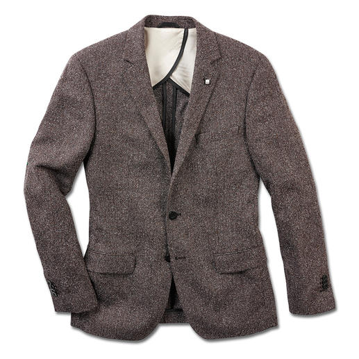 Karl Lagerfeld Summer Tweed Sports Jacket - Tweed, now as a light and airy summer version. Contemporary and light thanks to silk and cotton. By Lagerfeld.