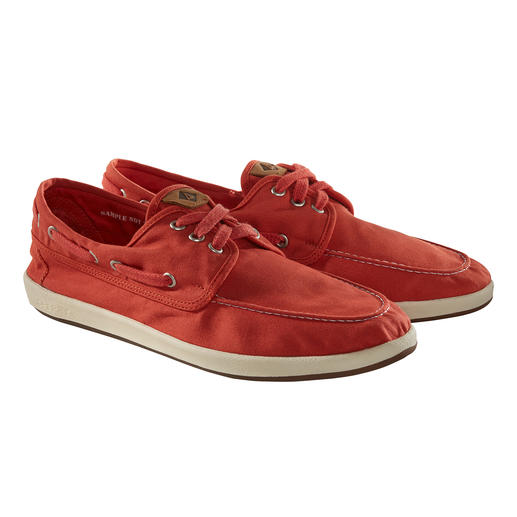 Sperry Canvas Boat Shoes Only 215g (7.6 oz): The boat shoe made of summery lightweight cotton canvas. By Sperry.