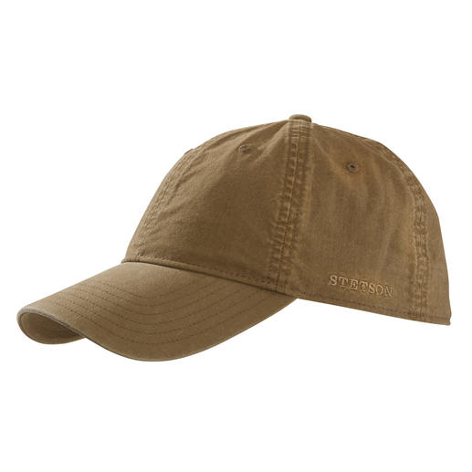 Stetson Baseball Cap This baseball cap is much more special than so many others. Trendy vintage look. With SPF 40+.