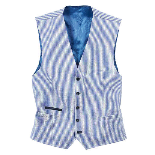Carl Gross Seersucker Waistcoat The airy, light seersucker waistcoat: Wonderfully cool and doubly fashionable. By Carl Gross, since 1925.
