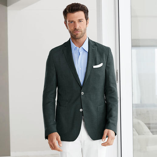 Carl Gross Cross-Ply Summer Jacket Your most stylish warm weather jacket: As formal as a classic blazer, but much airier. By Carl Gross.