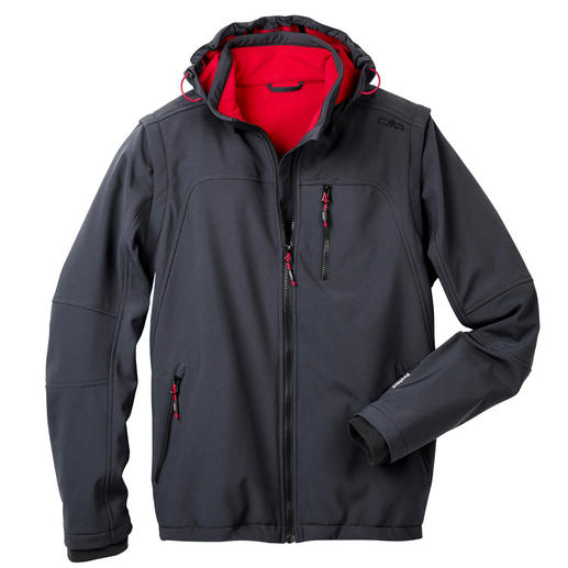 Soft Shell Jacket for Men, Grey Slim, lightweight, yet warm. Jacket made of Soft Shell, with WindProtect®.