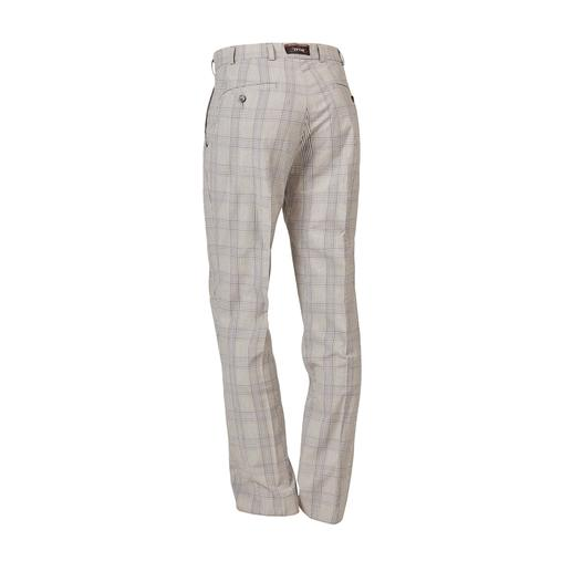 Hoal Wool Seersucker Trousers You feel airy seersucker. Others see elegant suit cloth. Classic tartan and lightweight structure.