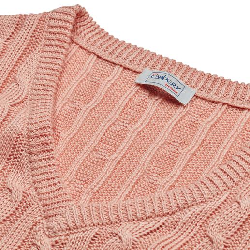 Carbery Linen Pullover With Cable Pattern Knitted from airy linen: The pullover with cable pattern in a summery style. Made in Ireland. By Carbery.