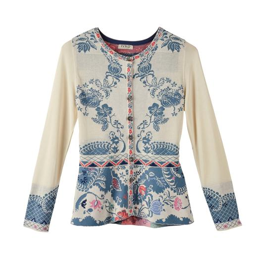 "IVKO Jacquard Jacket ""Ornaments"" Exceptional multicoloured jacquard knit. A truly unique piece from Serbia. By IVKO."