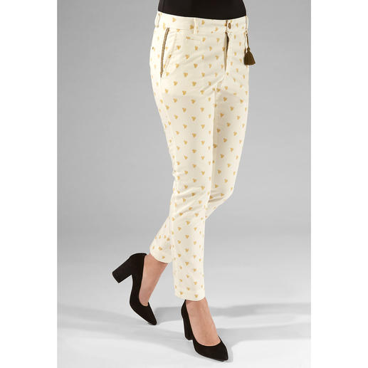 Mason's Chino Cactus Design Perfectly tailored for the female figure: Feminine chinos in trendy cactus design. By Mason's.