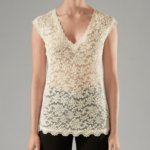 Rosemunde Copenhagen Lace Top - Uncomplicated lace top for every occasion. As easy-care as a T-shirt, as elegant as a blouse.
