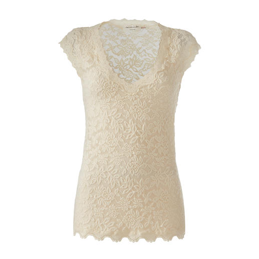 Rosemunde Copenhagen Lace Top Uncomplicated lace top for every occasion. As easy-care as a T-shirt, as elegant as a blouse.
