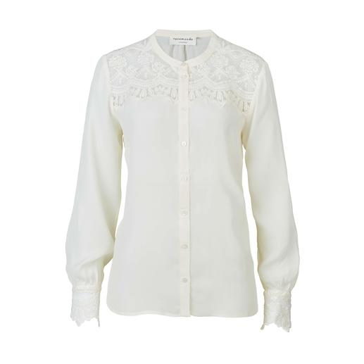 Rosemunde Copenhagen Lace Blouse, Ivory The appearance of a blouse. The comfort of a T-shirt. Scandinavian design by Rosemunde Copenhagen.
