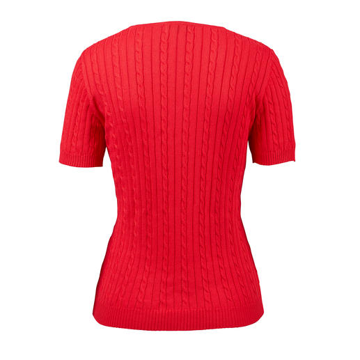 Carbery Pima Cotton Pullover with Cable Pattern Exquisite Pima cotton. Casual cable pattern. Feminine, fitted style. By Carbery.