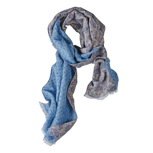 Pellens & Loick Double Print Scarf - Airy linen with cotton. Easily combinable, ingenious double print. By Pellens & Loick, since 1870.