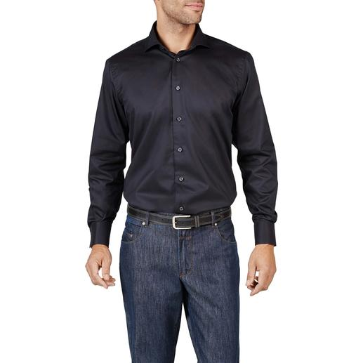 Dorani Coolmax® Business Shirt A fashionable black shirt for the summer. Feel the comfort of cotton. Enjoy the climate control of Coolmax®.
