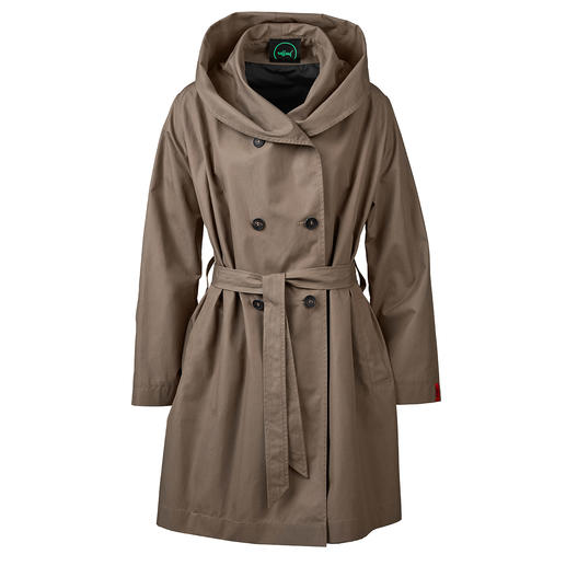 Raffauf Outdoor Couture Coat The outdoor coat with couture character. Elegant and city chic, plus water-repellent, windproof and breathable.