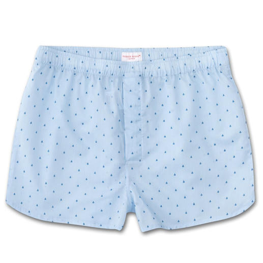 Derek Rose New Boxer Shorts, Light blue Contemporary narrow cut. Traditional origins. Boxer shorts from underwear specialist Derek Rose, London.